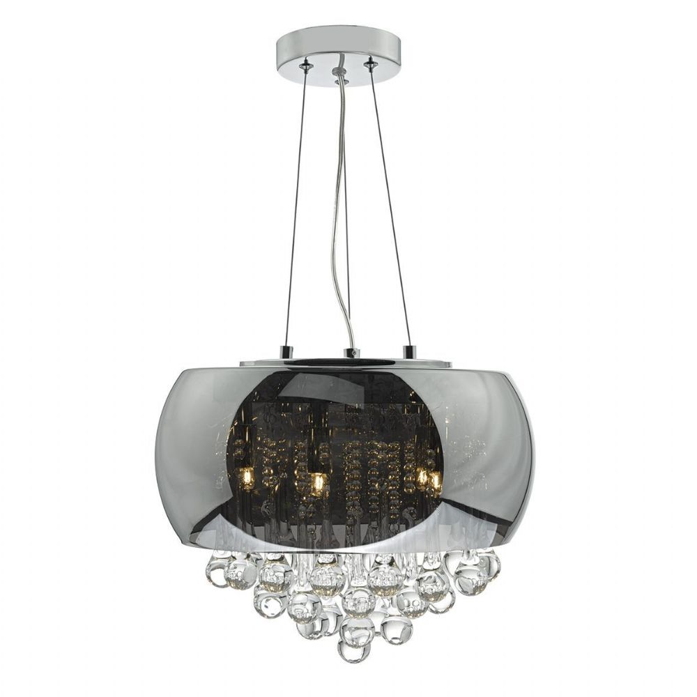 Giselle 5 Light Pendant Smoked/ Clear